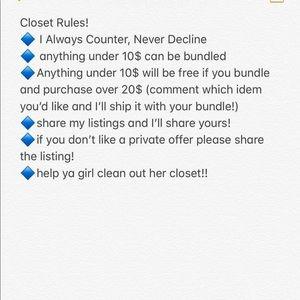 Closet Rules!
